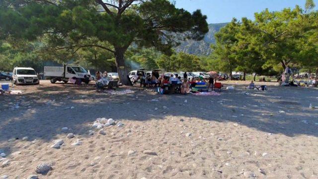 Çaltıcak Antalya Mesire Piknik Mangal Alanları Deniz Manzarası