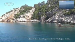 Ceneviz Koyu Sazak Koyu Arası Deniz Yolu Doğası - Antalya
