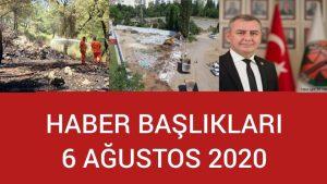 Haber Başlıkları - 6 Ağustos 2020 - Antalya ve Türkiye'den Günün Haberleri