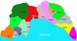 Antalya ilçelerinin isimleri nasıl verildi, anlamları nelerdir ?
