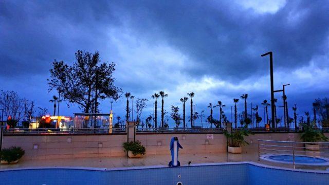 Antalya'da kapalı havada gökyüzü ve bulutlar
