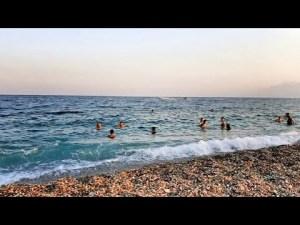 Konyaaltı Plajından Deniz Manzarası Antalya 06.08.2020