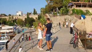 Mermerli Plajı ve Yat Limanı Deniz Manzarası Antalya Turistik Gezilecek Yerler