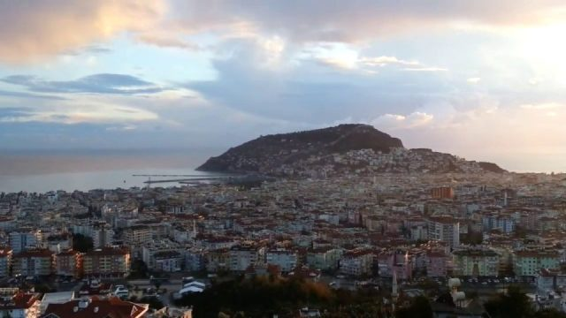 Seyir terasından Alanya manzarası