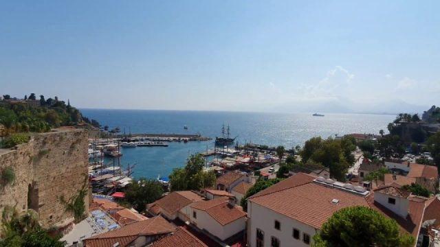 Yat Limanı Kaleiçi Deniz Manzarası Tophane Çay Bahçesi Antalya Şehir Merkezi Gezilecek Yerleri