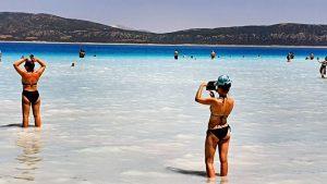 Salda Gölü Plajları Göl Manzaraları Beyaz Adalar Doğanbaba Plajı