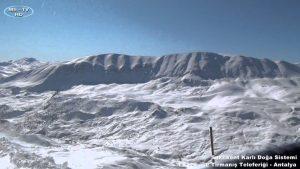 Saklıkent Kar Manzaraları ve Tırmanış Teleferiği - Antalya