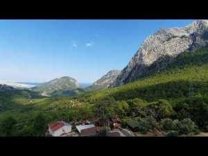 Altınyaka yolundan deniz ve orman manzarası Antalya