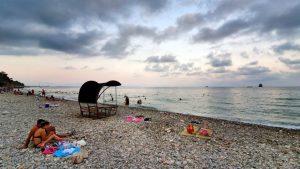 Antalya Topçam Piknik Alanı Sahilinden Deniz Manzarası