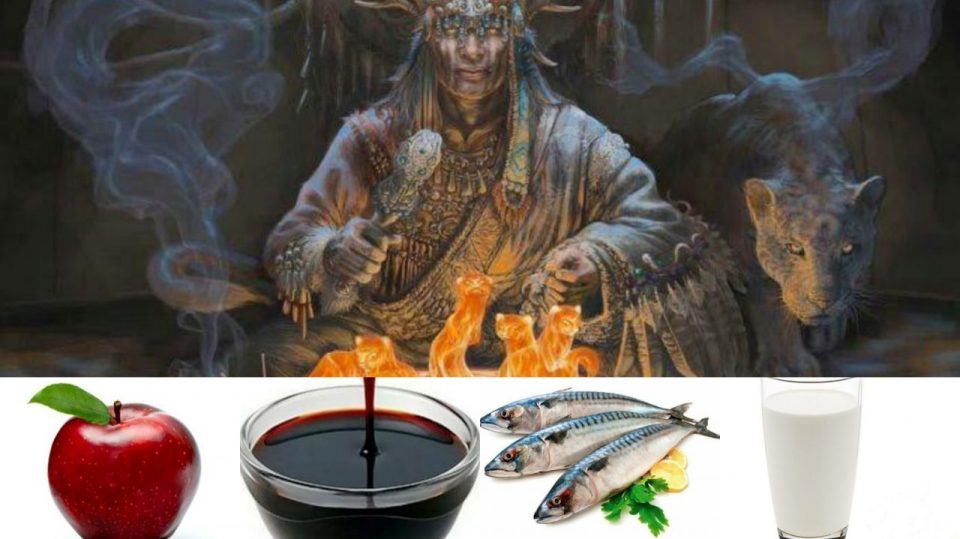 elma pekmez balık süt şaman mitoloji