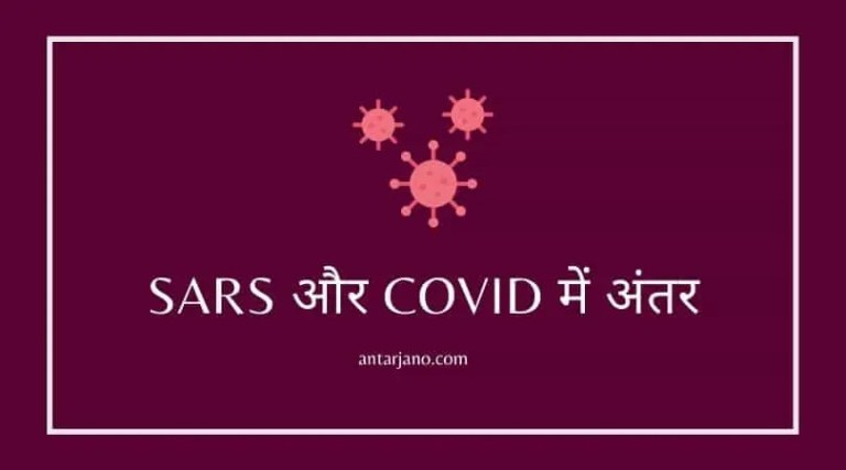 Difference Between COVID 19 and SARS in Hindi