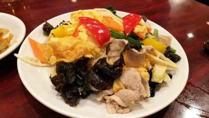 キクラゲの豚肉玉子炒め 広州厨房 大井町