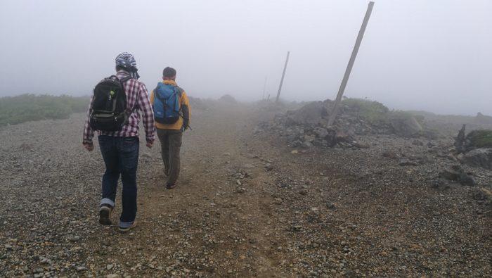登山の途中