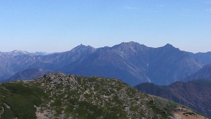 北アルプスの山