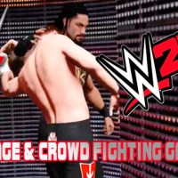 WWE 2K17 Crowd & Backstage Fighting Gameplay With WWE2KDev