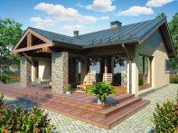 Проект одноэтажного дома с террасой «КО-98»