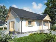 Проект одноэтажного дома с террасой «КО-78»