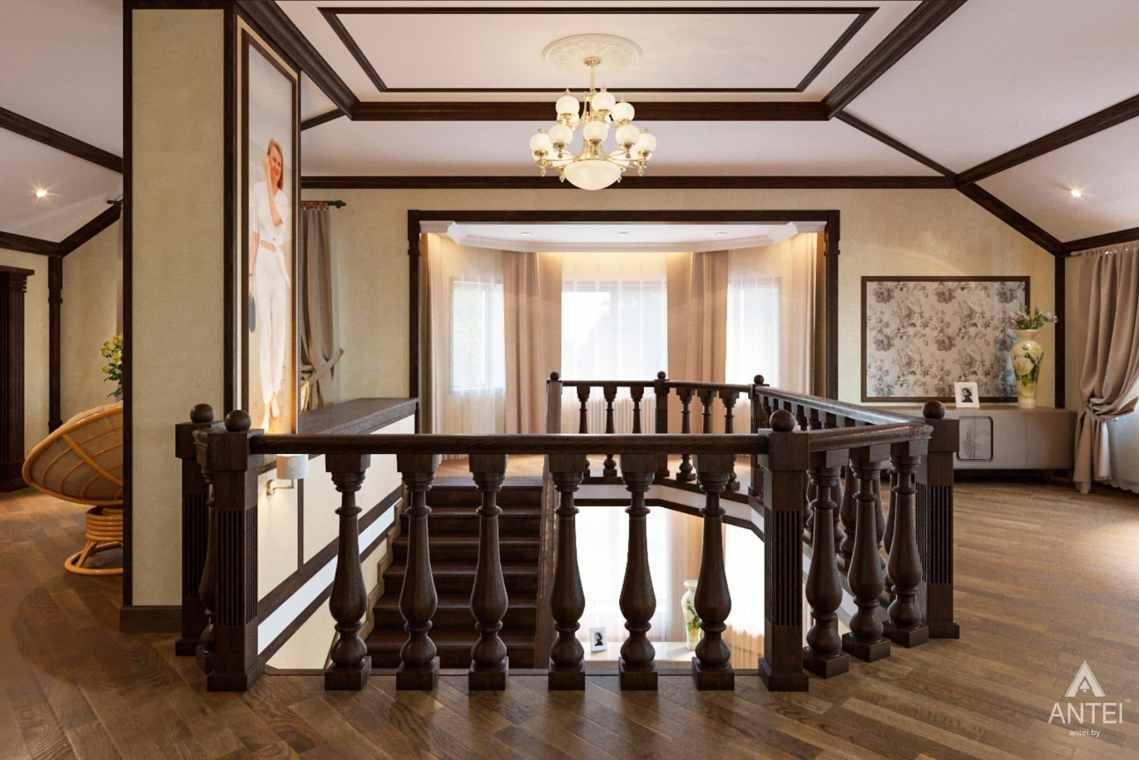 Дизайн интерьера коттеджа в г. Гомель, ул. Плеханова - холл 2 этажа фото №2