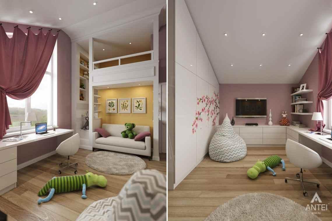 Дизайн интерьера загородного дома в г. Люберцы, Россия - детская комната для девочки