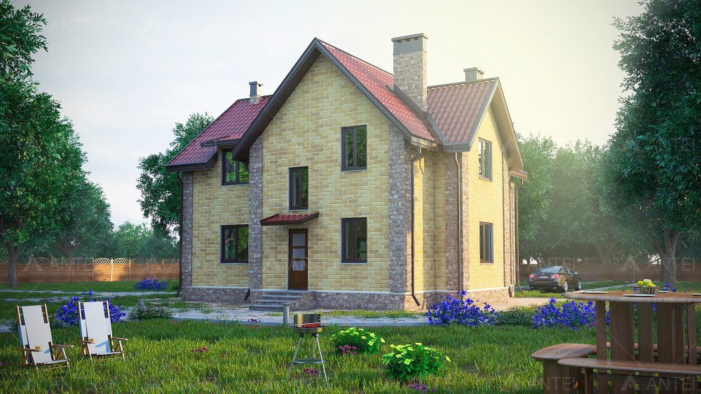 Проект мансардного дома с балконом «КМ-10» - фото №2