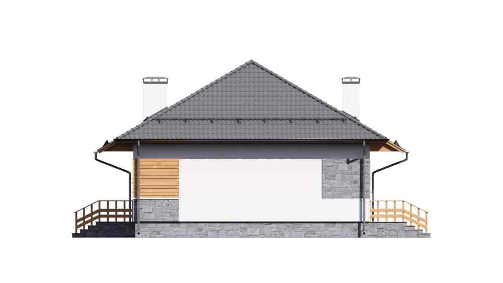 Фасад одноэтажного дома «КО-119» - слева