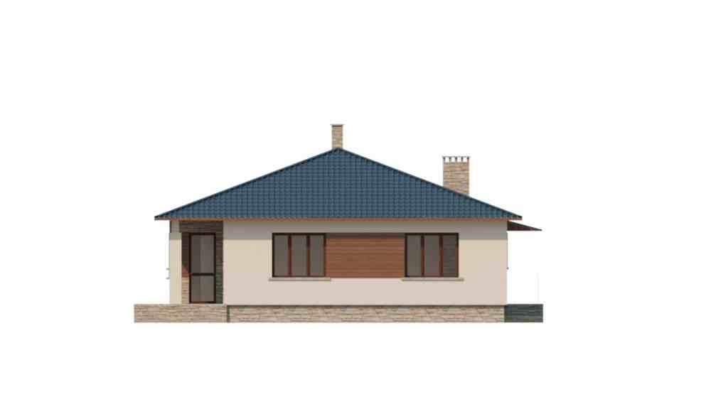 Фасад одноэтажного дома с террасой «КО-122» - сзади