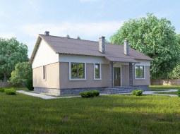 Проект одноэтажного дома с террасой «КО-53»