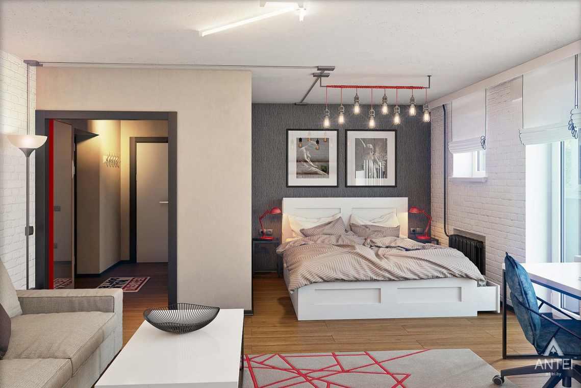 Дизайн интерьера квартиры в Петрикове - спальня фото №1