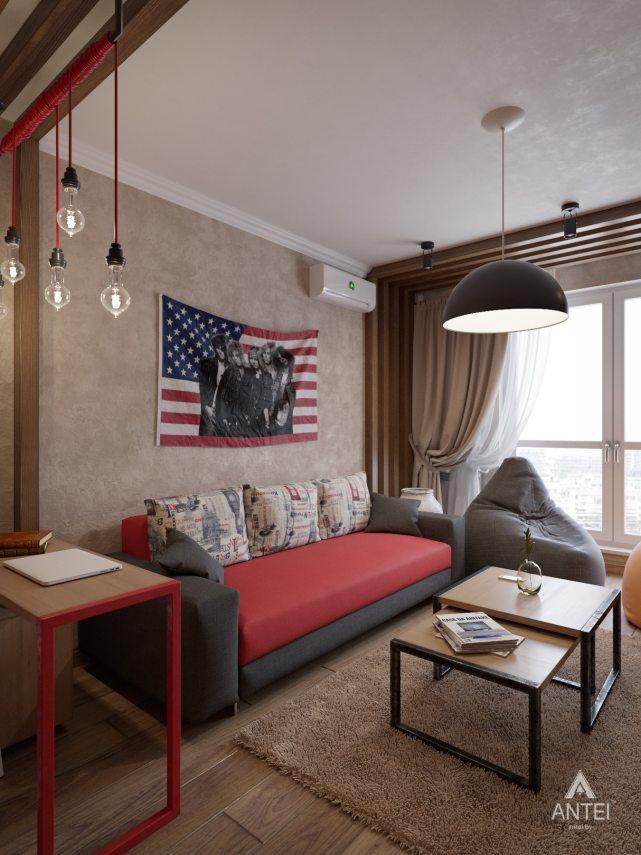 Дизайн интерьера коттеджа в Гомеле, Садовое товарищество - гостиная фото №1