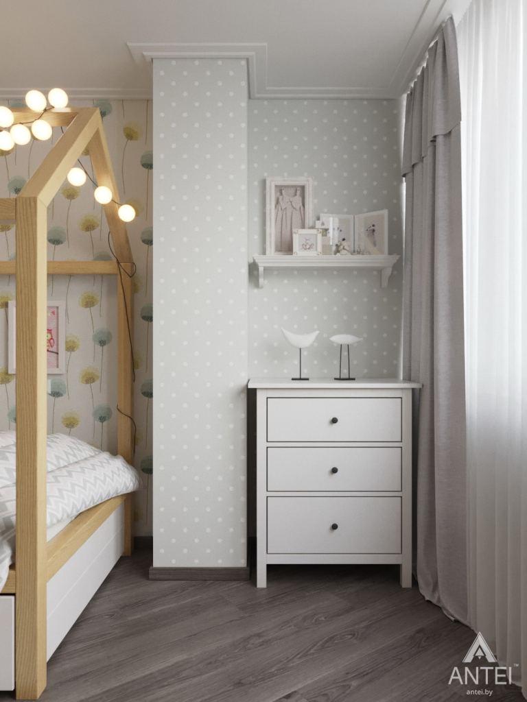 Дизайн интерьера квартиры в Гомеле, ул. Т.С. Бородина - детская комната для девочки фото №2