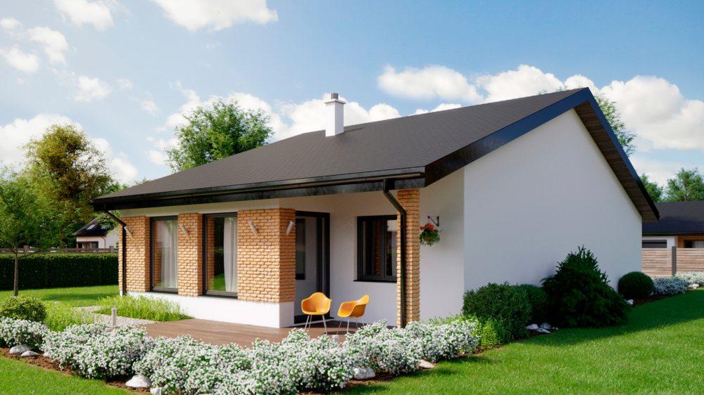 Проект одноэтажного дома c гаражом «КО-150» - фото №2