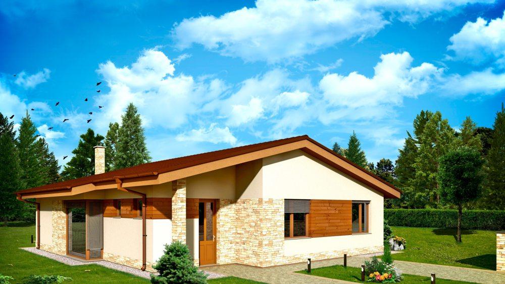 Проект одноэтажного дома «КО-152» - фото №1