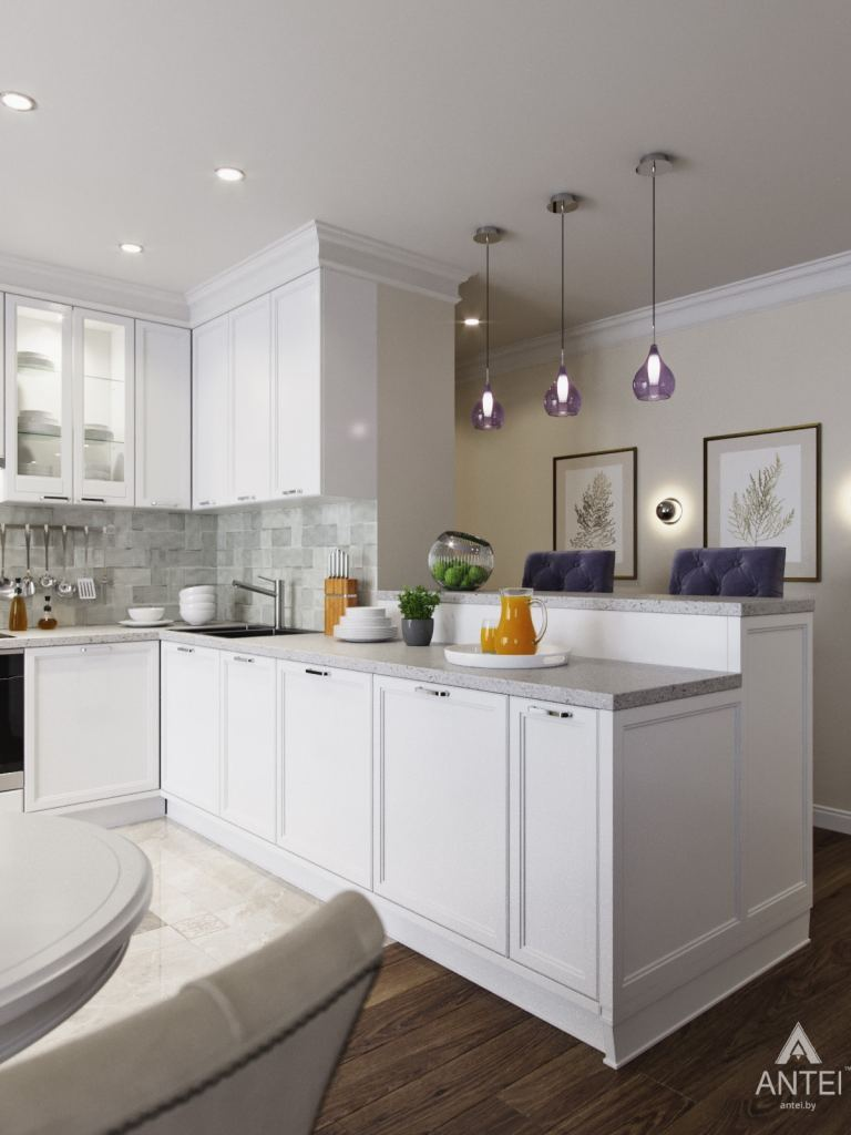 Дизайн интерьера квартиры в Гомеле - кухня фото №1