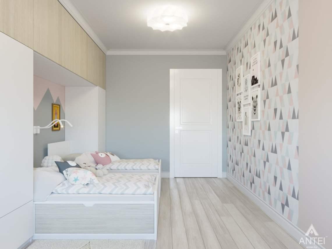 Дизайн интерьера трехкомнатной квартиры в Гомеле, ул. Свиридова - детская комната фото №3