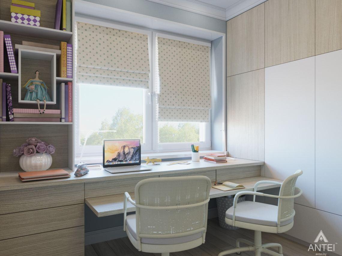 Дизайн интерьера трехкомнатной квартиры в Гомеле, ул. Свиридова - детская комната фото №5