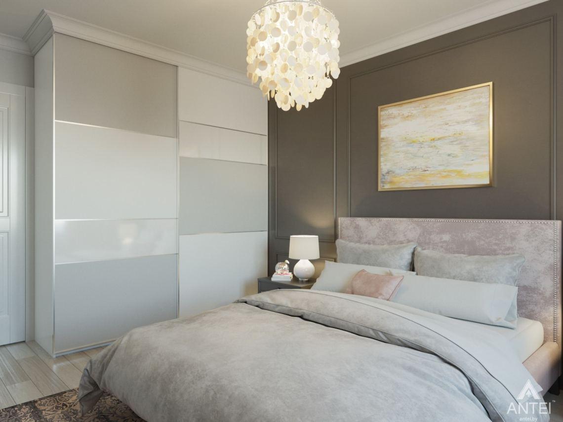 Дизайн интерьера трехкомнатной квартиры в Гомеле, ул. Свиридова - спальня фото №4