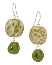 Be Green Kazuri Bead Earrings