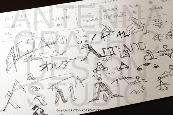 ロゴデザインのラフスケッチ参考画像2