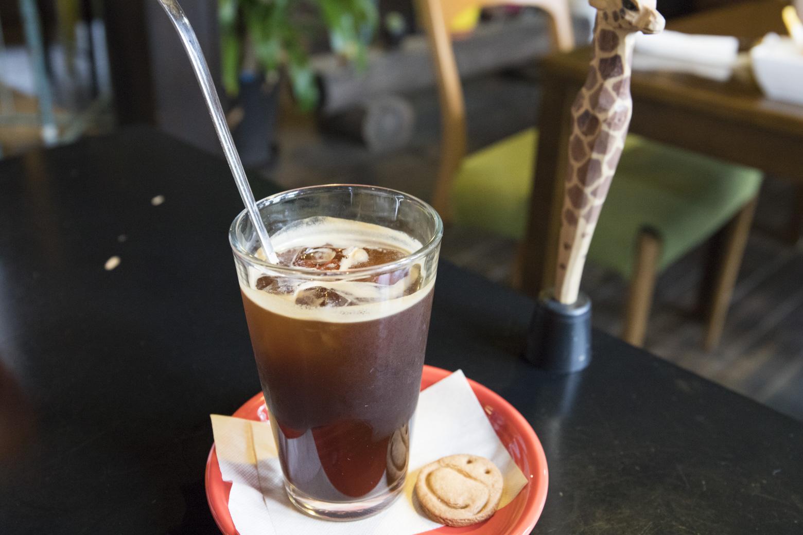 エチオピア産の豆を使ったアイスコーヒー