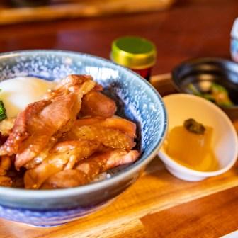 信州黄金シャモの焼鶏丼
