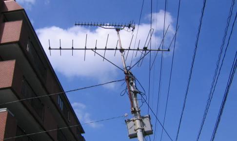 老朽化した八木アンテナの撤去 小倉北区
