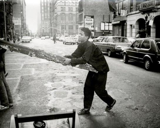 Jean-Michel Basquiat with Ladder1983