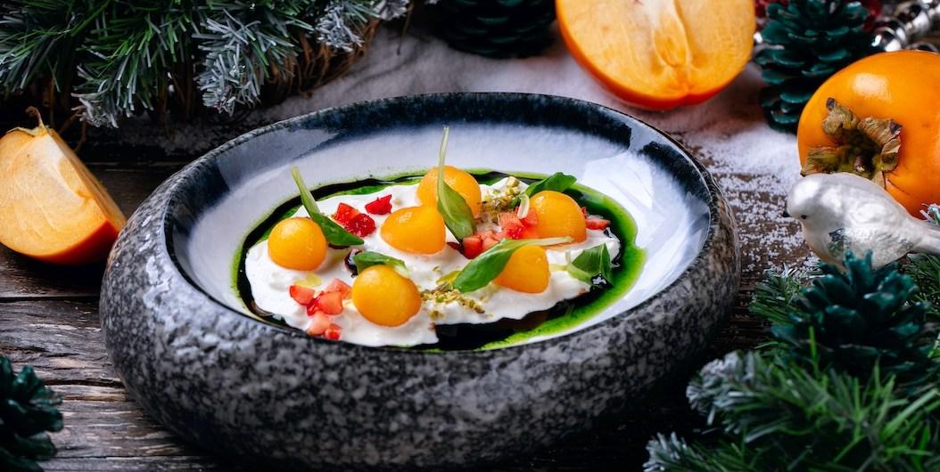 Рецепт салата с хурмой