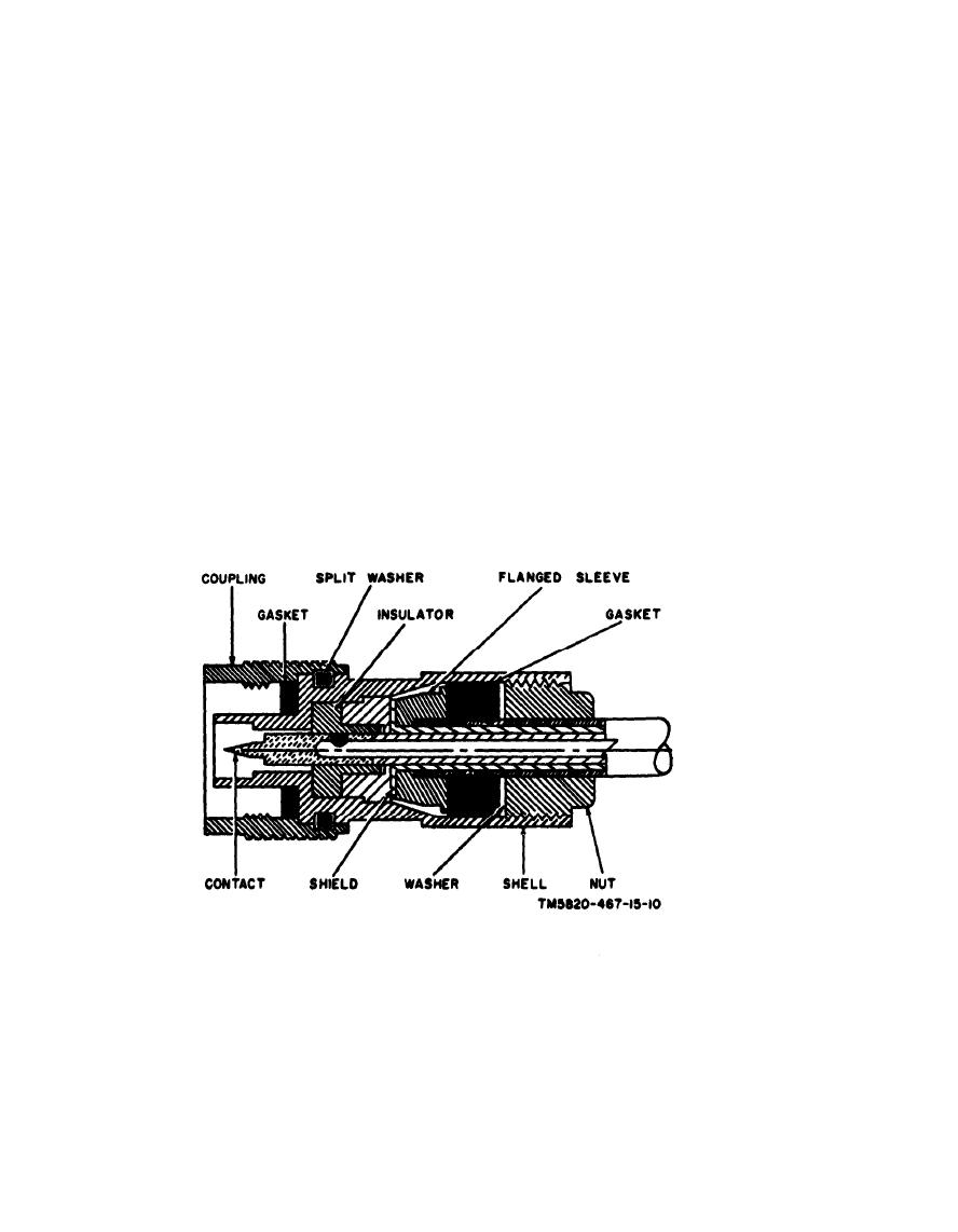 Figure 10. Cross section of rf cable and connector.