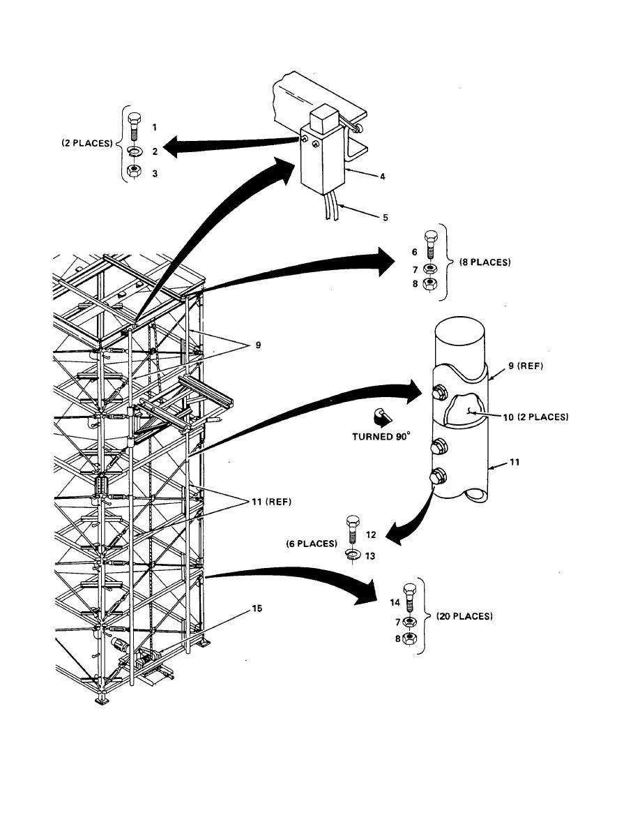 Figure E-5. Antenna Elevation and Positioning Kit (Sheet 1