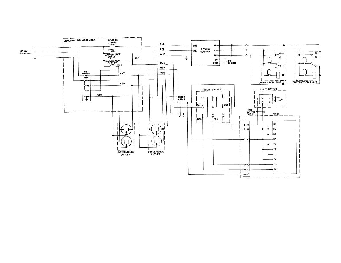 FO-1. Antenna Tower Electrical Circuit Schematic Wiring