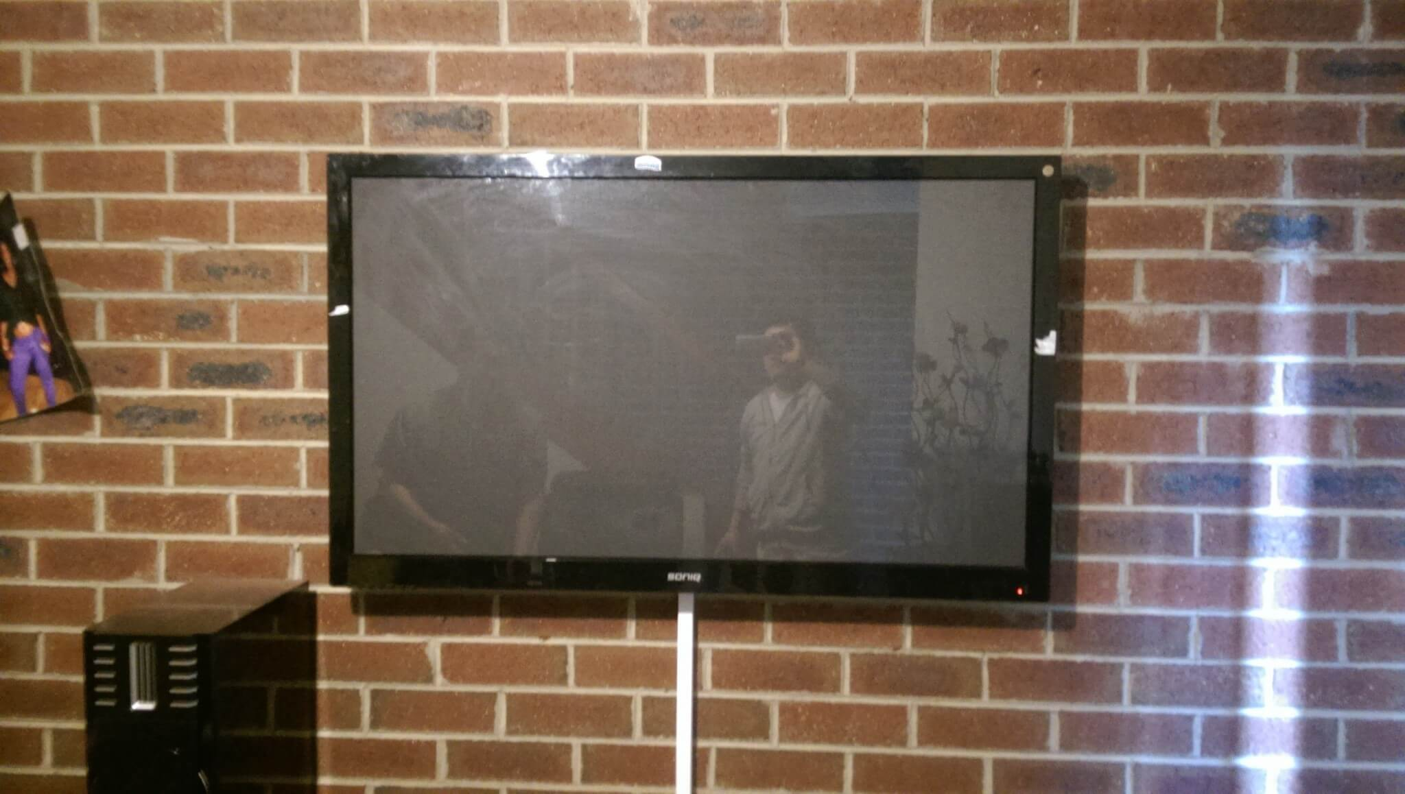 TV Installation On Brick Wall In Ascot Vale
