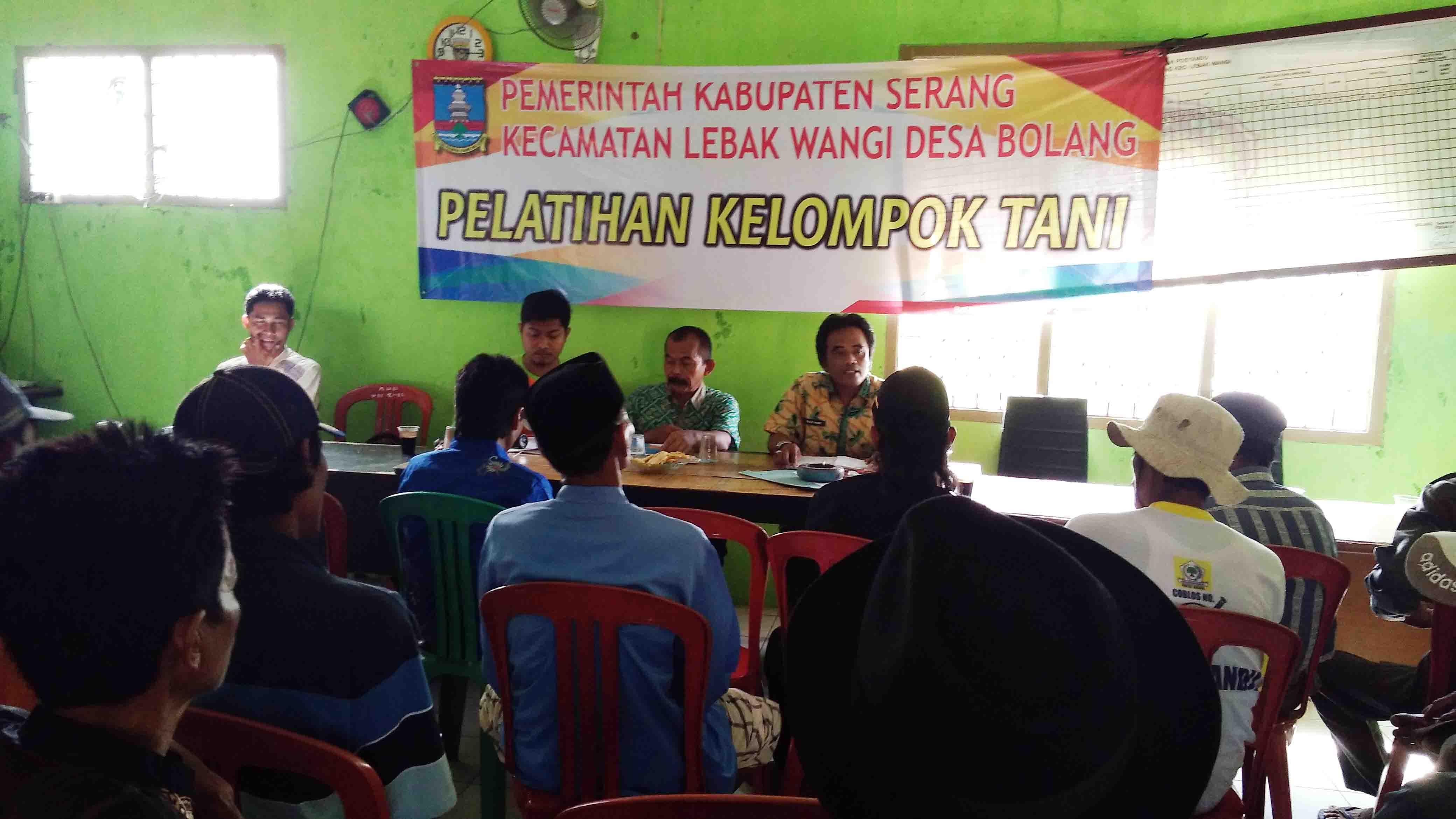 Balai Desa Bolang Lebak Wangi Adakan Pelatihan Pertanian