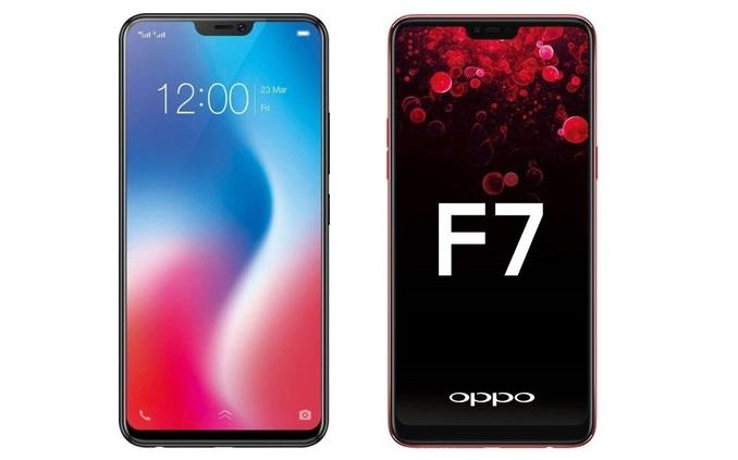 Adu Kencang Handphone Oppo F7 VS Vivo V9, pilih mana?