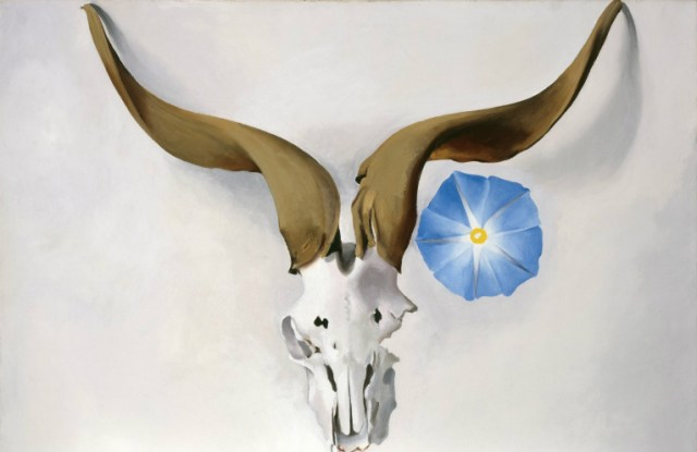 Rams Head Blue Morning Glory de O'Keeffe